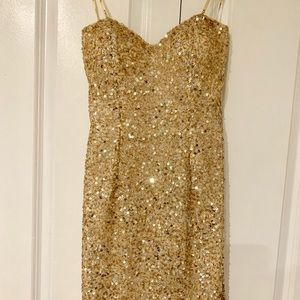 Scala gold sequin mini dress